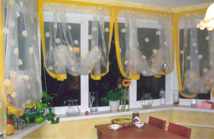 гардина для эркерного окна