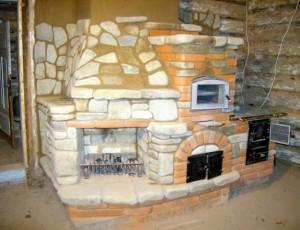 комбинированная каменная печь