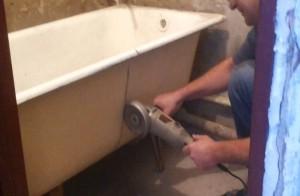 печь из старой чугунной ванны