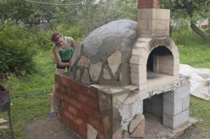 Помпейская печь своими руками – как в Италии